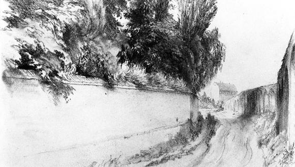 Dibujo al lápiz de Adolph von Menzel. (Foto: Archivo)
