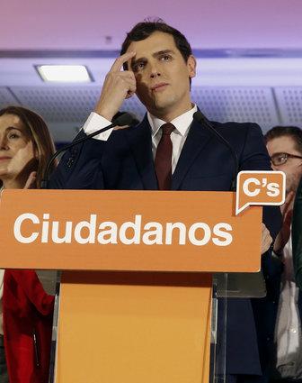 Albert Rivera, líder de CIUDADANOS, cuarto partido con más fuerza en España. Foto EFE.
