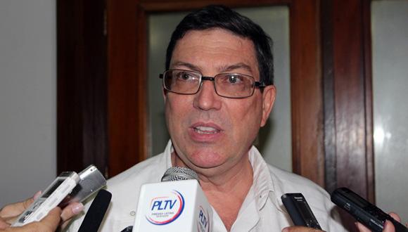 El canciller cubano, Bruno Rodríguez Parrilla, ofreció declaraciones a la prensa en la tercera jornada del trabajo en comisiones de la Asamblea Nacional del Poder Popular. Foto: José Raúl Concepción/Cubadebate.