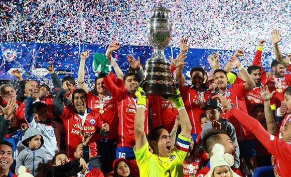 La selección de fútbol de Chile ganó por primera vez en su historia la Copa América. Foto tomada de Pura Noticia.