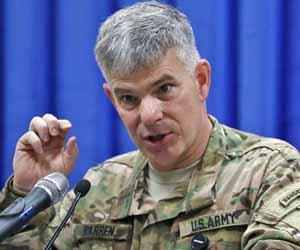 El portavoz de la misión estadounidense contra el EI en Iraq, el coronel Steve Warren. Foto K Mohammed/AP.