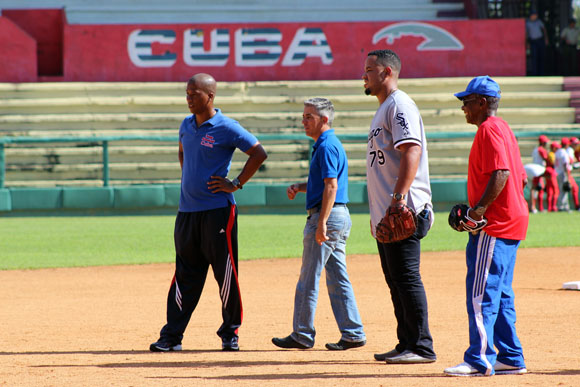 José Dariel Abreu y también estuvieron en el cuadro. Foto: José Raúl Concepción/Cubadebate.