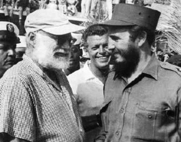 Hemingway y Fidel