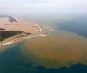 La contaminación se extendió por el río Doce hasta el Océano Atlántico. Foto. Reutres.
