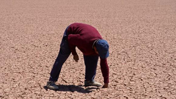 La sequía se debió al calentamiento global y al fenómeno el Niño. Foto: EPA.