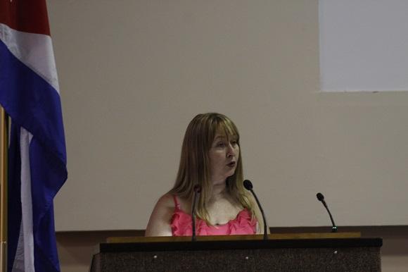 Maribel Acosta, Jefa del Departamento de la carrera de Periodismo y miembro del Comité Académico. Foto: José Raúl Concepción/Cubadebate.