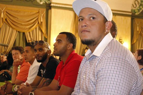 Miguel Cabrera, Nelson Cruz, Alexei Ram{irez, Jason Bay y Clayton Kershaw. Foto: José Raúl Concepción/Cubadebate.