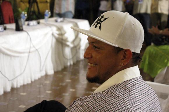 Miguel Cabrera, estrella venezolana de los Tigres de Detroit. Foto: José Raúl Concepción/Cubadebate.