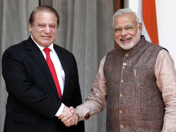 Narendra Modi y Nawaz Sharif