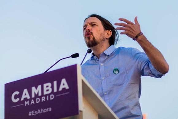 Pablo Iglesias líder de Podemos, el único partido de izquierda en España. Foto: AP/Andrés Kudacki.