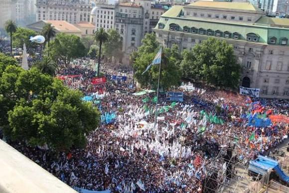 Plaza de Mayo hoy. Foto: Twitter.