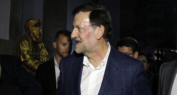 Rajoy, después de la agresión. Foto: PontevedraViva.com