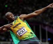 El bólido jamaicano, la principal estrella mediática de los JJOO. Foto: Michael Steele/Getty Images.