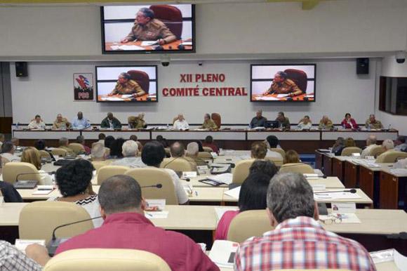 XII Pleno del Comité Central del Partido Comunista de Cuba. Foto: Estudios Revolución
