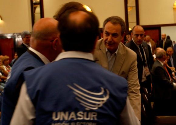 El ex jefe de Gobierno del Reino de España José Luis Rodríguez Zapatero estuvo presente en el inicio del programa de Acompañamiento Internacional Elecciones Asamblea Nacional 2015. Foto: AVN