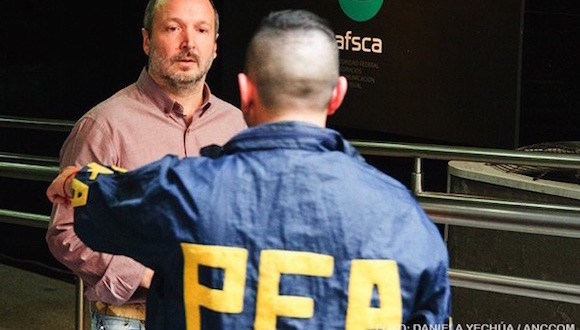 Allanamiento de la sede de la Autoridad Federal de Servicios de Comunicación Audiovisual (AFSCA) en Argetina.