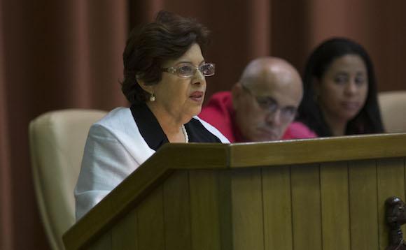 Lina Pedraza Rodríguez, ministra de Finanzas y Precios. Foto: Ismael Francisco/ Cubadebate/ Archivo.