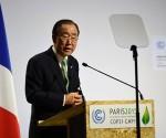 Ban Ki-moon en la recién terminada Cumbre Climática de París. Foto: Archivo.