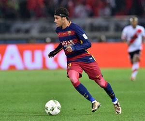 Neymar en partido contra el River Plate. Foto: Getty Images.