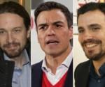 De izquierda a derecha, los candidatos Albert Rivera, Pablo Iglesias, Pedro Sánchez, Alberto Garzón y Mariano Rajoy. Foto tomada de The Huffington Post.