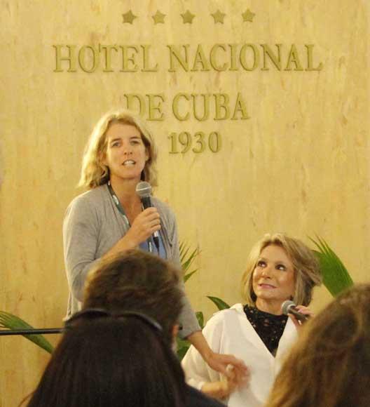 Rory Kennedy, hija de Robert F. Kennedy, comenta sobre la realización de su documental Ethel. Foto: Paola/Cubadebate.