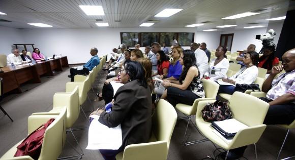 Trabajo en Comisiones de la Asamblea Nacional del Poder Popular. Salud y Deportes. Foto: Ismael Francisco/Cubadebate.
