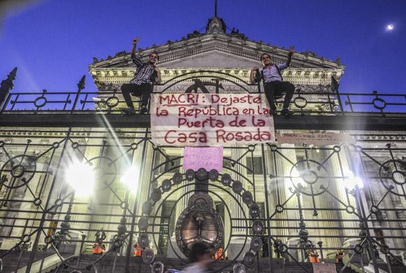 Ya Mauricio Macri tiene en su historial dos marchas multitudinarias. Foto: Kaloian/Cubadebate.