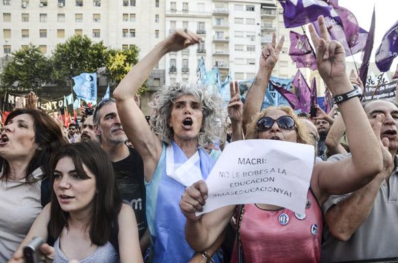 Todos contra Macri. Foto: Kaloian/Cubadebate.