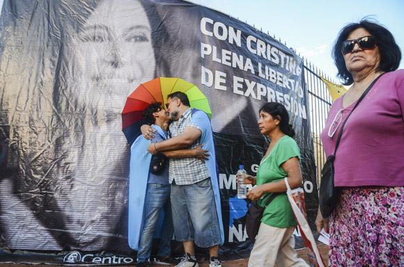 El amor por Argentina une a los manifestantes. Foto: Kaloian/Cubadebate.