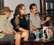 Norberto Codina, Miryorly García y Pedro Noa en el salón 1930 del Hotel Nacional. Foto: Paola/Cubadebate.