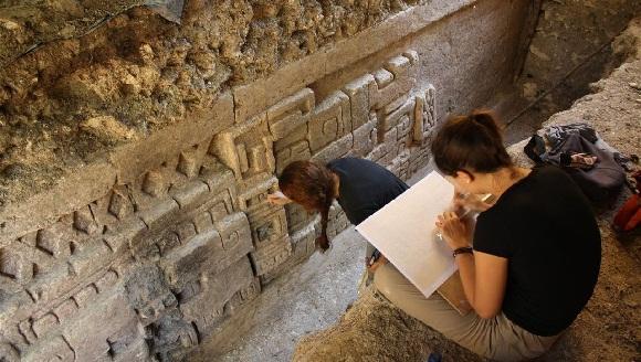Imagen del hallazgo maya