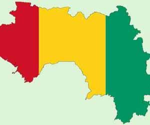 guinea conarky mapa y bandera