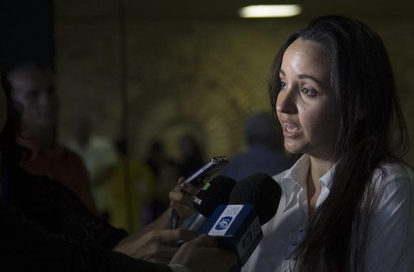 Jennifer Bello Martínez, presidenta nacional de la FEU, elegida nuevo miembro del Consejo de Estado. Foto: Ismael Francisco/ Cubadebate