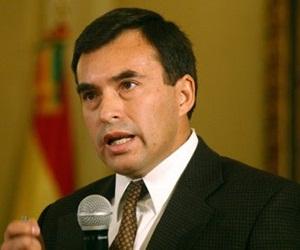 Ministro de la Presidencia, Juan Ramón Quintana.