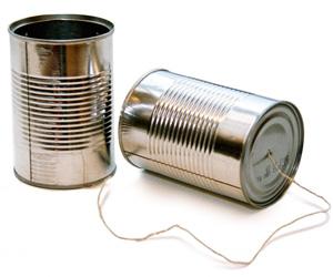 latas para comunicarse