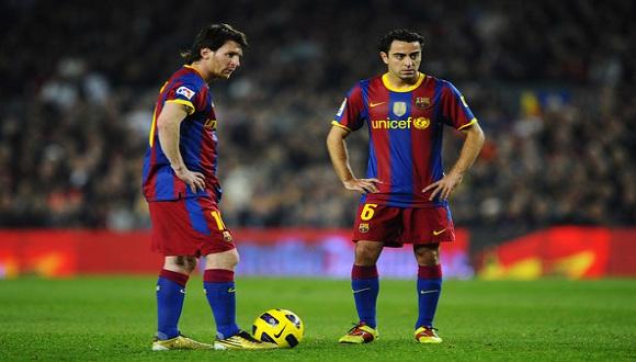 """""""Yo creo que ahora Leo es el claro favorito, y aparte se lo merece por todo lo conseguido en el Barcelona"""", asegura Xavi. Foto: Marca."""