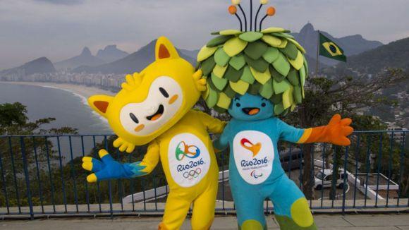 Mascotas de los Juegos Olimpicos de Rio de Janeiro 2016. Foto: EFE.