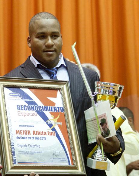 Alfredo Despaigne, mejor atleta de Cuba en deportes colectivos.  Foto: Ismael Francisco/Cubadebate.