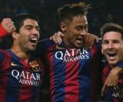 Suárez, Neymar y Messi.