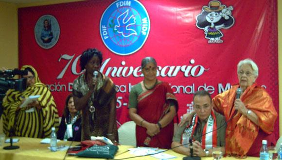 Mirta Rodríguez ,madre de Antonio Guerrero, agradeció todo el apoyo brindado a la liberación de los 5. (Foto: Mariela Pérez Valenzuela)