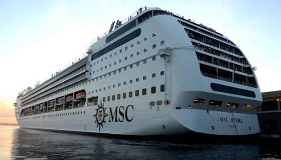 Crucero MSC Opera, el último en atracar en puerto de La Habana. (Foto: ACN)