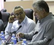 Participa Miguel Diaz Canell primer vicepresidente cubano en la comision de Educacion,Cultura, Ciencia y Tecnologia, a su lado Andres Castro presidente de esta comision de la Asamblea NAcional del Poder Popular. Foto: Ismael Francisco/Cubadebate