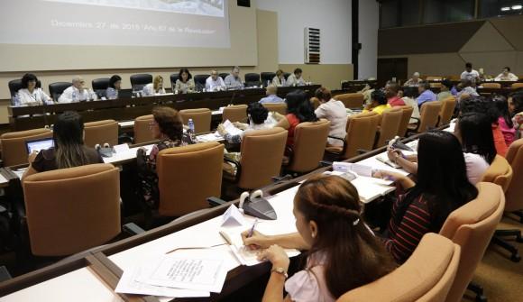 Participa Miguel Diaz Canell primer vicepresidente cubano en la comision de Educacion,Cultura, Ciencia y Tecnologia. Foto: Ismael Francisco/Cubadebate.