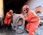 rescatistas en la mina foto Xinhua