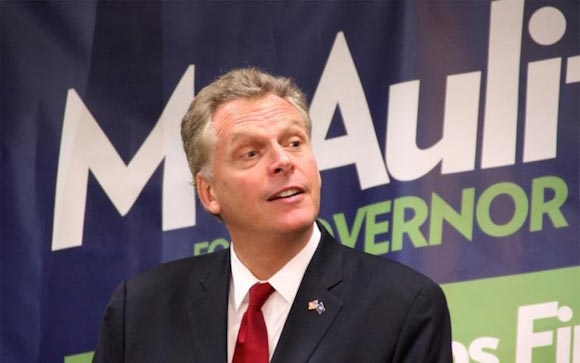 Terry McAuliffe, gobernador de Virginia.