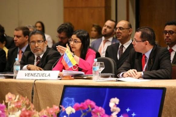Durante su intervención, Rodríguez ratificó que Venezuela es ejemplo para el mundo en cuento al respeto de los Derechos Humanos se refiere. Destacó los diferentes programas y leyes que garantizan los DDHH a los ciudadanos venezolanos.