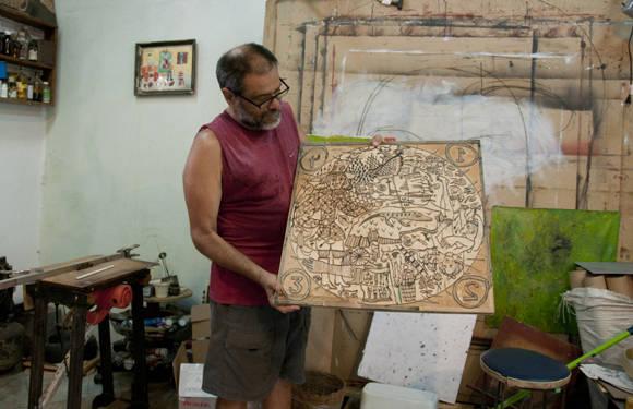 """""""Para mi trabajo el grabado sí fue una herramienta importante.""""  Foto: Ladyrene Pérez/ Cubadebate."""