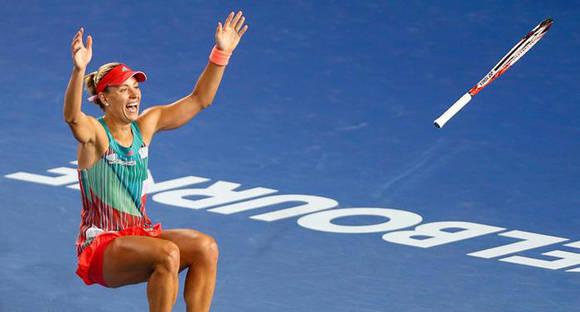 Kerber obtuvo su 1er título de Grand Slam. Foto: B. Malone/Reuters.