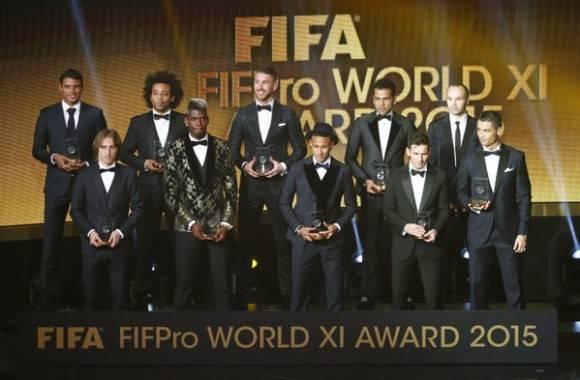 11 ideal de la FIFA 2015 Foto: FIFA.