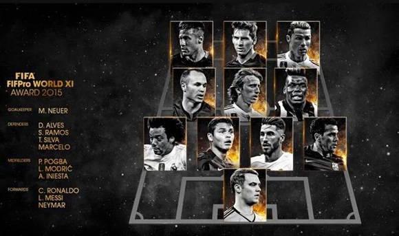 Brasil y la Liga Española resltan en el 11 ideal de la FIFA.